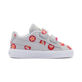 Thumbnail 5 of PUMA x SESAME STREET 50 Suede Badge Toddler Shoes, Grey Dawn-High Risk Red, medium