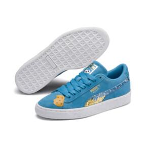 Thumbnail 2 of PUMA x SESAME STREET 50 Suede Statement Sneakers JR, Bleu Azur-Puma White, medium