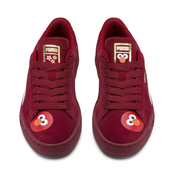 PUMA x SESAME STREET 50 Suede Statement Sneakers JR, Rhubarb-Puma White, large