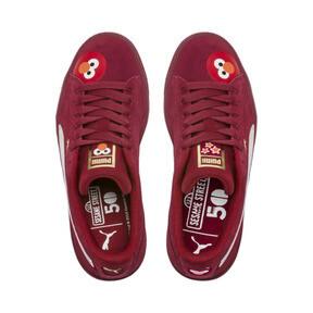 Thumbnail 6 of PUMA x SESAME STREET 50 Suede Statement Sneakers JR, Rhubarb-Puma White, medium