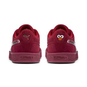 Thumbnail 3 of PUMA x SESAME STREET 50 Suede Statement Little Kids' Shoes, Rhubarb-Puma White, medium