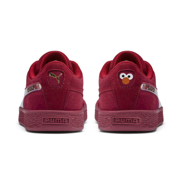 PUMA x SESAME STREET 50 Suede Statement Little Kids' Shoes, Rhubarb-Puma White, large