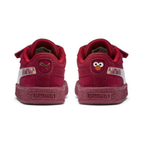 Thumbnail 3 of PUMA x SESAME STREET 50 Suede Statement Toddler Shoes, Rhubarb-Puma White, medium
