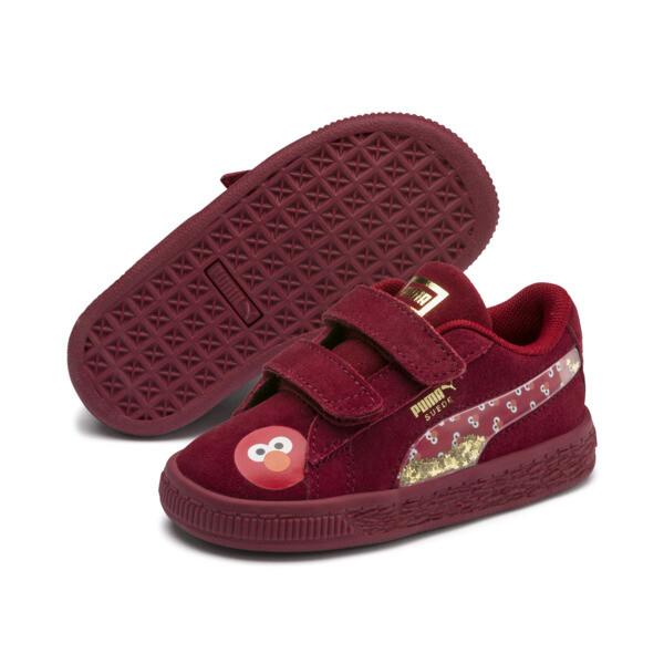 PUMA x SESAME STREET 50 Suede Statement Toddler Shoes, Rhubarb-Puma White, large