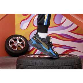 Thumbnail 8 of PUMA x HOT WHEELS RS-X Toys 16 Trainers, Puma Black-Puma Team Gold, medium