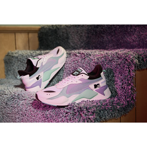 Thumbnail 8 of RS-X Tracks MTV Gradient Blaze Sneakers, Puma White-Sweet Lavender, medium