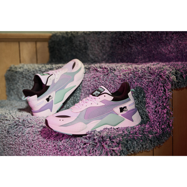 RS-X Tracks MTV Gradient Blaze Sneakers, Puma White-Sweet Lavender, large