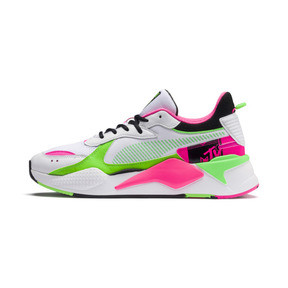 Thumbnail 1 of PUMA x MTV RS-X Tracks Bold Trainers, Puma White-Puma Black-802 C, medium