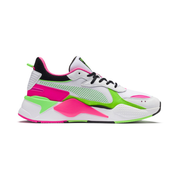 PUMA x MTV RS-X Tracks Bold Trainers, Puma White-Puma Black-802 C, large