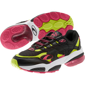 Thumbnail 2 of CELL Venom Fresh Mix Sneakers, Puma Black-Limepunch, medium
