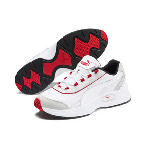 Thumbnail 3 of Nucleus Lux Sneaker, Puma White-High Risk Red, medium
