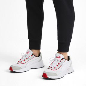Thumbnail 2 of Nucleus Lux Sneaker, Puma White-High Risk Red, medium