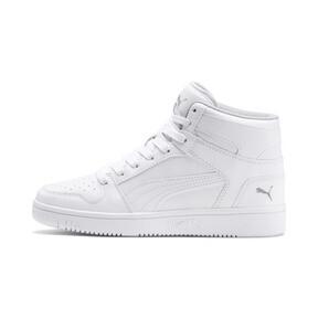 Thumbnail 1 of PUMA Rebound LayUp Sneakers JR, Puma White-Gray Violet, medium