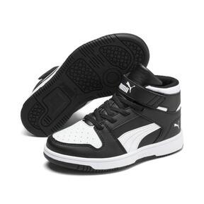 Thumbnail 2 of PUMA Rebound LayUp Sneakers PS, Puma Black-Puma White, medium