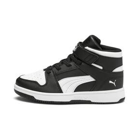 Thumbnail 1 of PUMA Rebound LayUp Sneakers PS, Puma Black-Puma White, medium