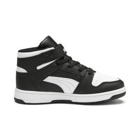 Thumbnail 5 of PUMA Rebound LayUp Sneakers PS, Puma Black-Puma White, medium