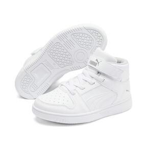 Thumbnail 2 of PUMA Rebound LayUp Sneakers PS, Puma White-Gray Violet, medium