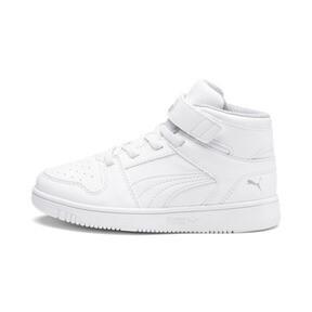 Thumbnail 1 of PUMA Rebound LayUp Sneakers PS, Puma White-Gray Violet, medium