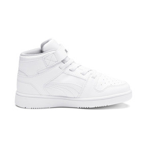 Thumbnail 5 of PUMA Rebound LayUp Sneakers PS, Puma White-Gray Violet, medium