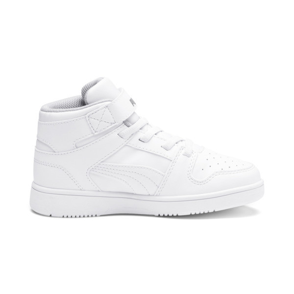 PUMA Rebound LayUp Sneakers PS, Puma White-Gray Violet, large