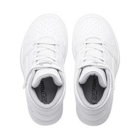 Thumbnail 6 of PUMA Rebound LayUp Sneakers PS, Puma White-Gray Violet, medium
