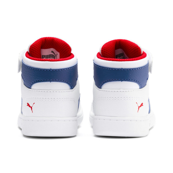 PUMA Rebound LayUp Sneakers INF, Puma White-Galaxy Blue-Red, large