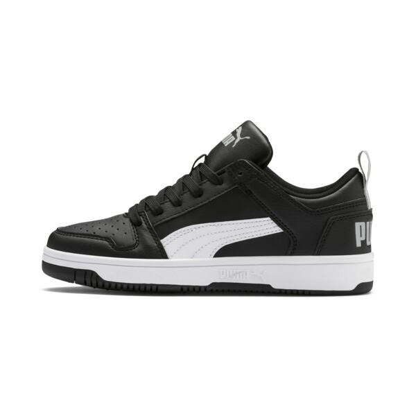 PUMA Rebound LayUp Lo Sneakers JR, Puma Black-White-High Rise, large