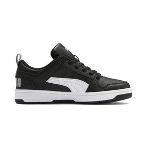 Thumbnail 5 of PUMA Rebound LayUp Lo Sneakers JR, Puma Black-White-High Rise, medium