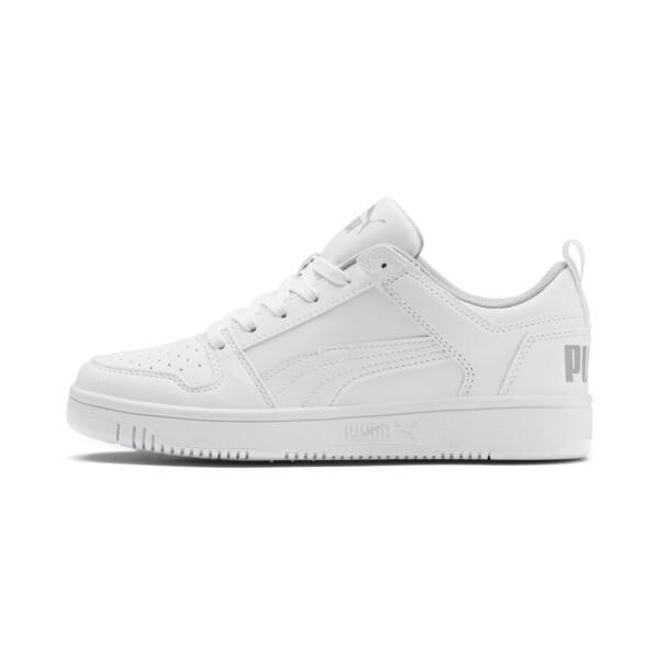Puma Rebound Layup Lo Sneakers Jr In Grey, Size 5.5
