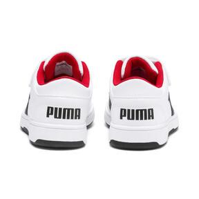 Thumbnail 4 of PUMA Rebound LayUp Lo Sneakers PS, Puma White-Puma Black-Red, medium
