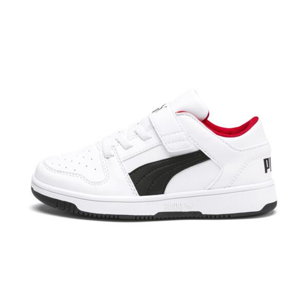 PUMA Rebound LayUp Lo Sneakers PS, Puma White-Puma Black-Red, large