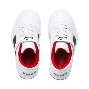 Thumbnail 6 of PUMA Rebound LayUp Lo Little Kids' Shoes, Puma White-Puma Black-Red, medium