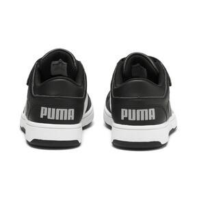 Thumbnail 3 of PUMA Rebound LayUp Lo Sneakers PS, Puma Black-White-High Rise, medium