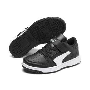 Thumbnail 5 of PUMA Rebound LayUp Lo Sneakers PS, Puma Black-White-High Rise, medium