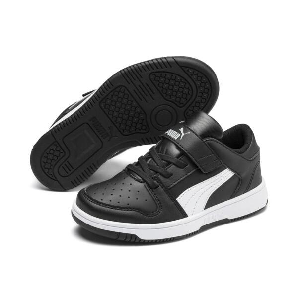 PUMA Rebound LayUp Lo Sneakers PS, Puma Black-White-High Rise, large