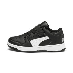 Thumbnail 1 of PUMA Rebound LayUp Lo Sneakers PS, Puma Black-White-High Rise, medium