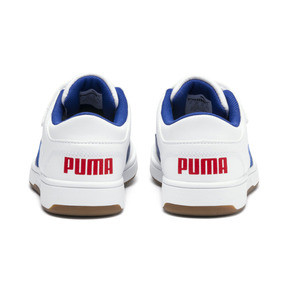 Thumbnail 3 of PUMA Rebound LayUp Lo Sneakers PS, Puma White-Galaxy Blue-Red, medium