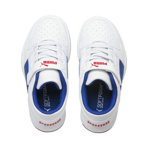 Thumbnail 6 of PUMA Rebound LayUp Lo Sneakers PS, Puma White-Galaxy Blue-Red, medium