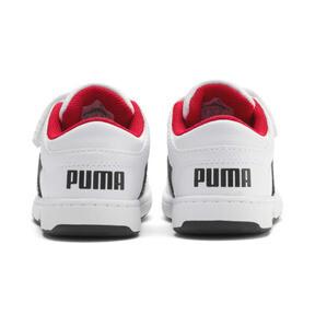 Thumbnail 3 of PUMA Rebound LayUp Lo Sneakers INF, Puma White-Puma Black-Red, medium
