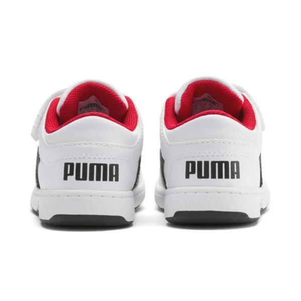 PUMA Rebound LayUp Lo Sneakers INF, Puma White-Puma Black-Red, large
