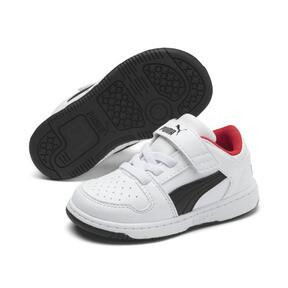 Thumbnail 2 of PUMA Rebound LayUp Lo Sneakers INF, Puma White-Puma Black-Red, medium