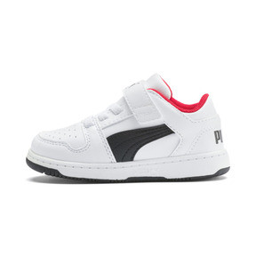 Thumbnail 1 of PUMA Rebound LayUp Lo Sneakers INF, Puma White-Puma Black-Red, medium