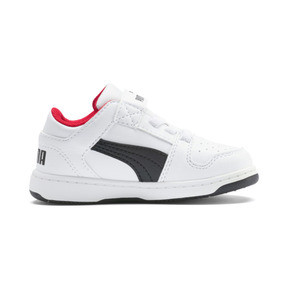 Thumbnail 5 of PUMA Rebound LayUp Lo Sneakers INF, Puma White-Puma Black-Red, medium