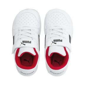 Thumbnail 6 of PUMA Rebound LayUp Lo Sneakers INF, Puma White-Puma Black-Red, medium