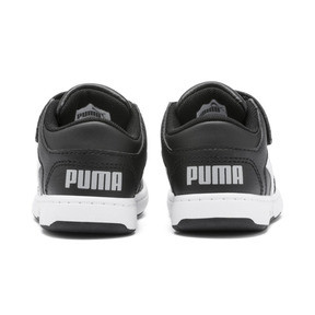 Thumbnail 3 of PUMA Rebound LayUp Lo Sneakers INF, Puma Black-White-High Rise, medium