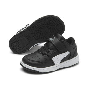 Thumbnail 2 of PUMA Rebound LayUp Lo Sneakers INF, Puma Black-White-High Rise, medium