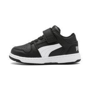 Thumbnail 1 of PUMA Rebound LayUp Lo Sneakers INF, Puma Black-White-High Rise, medium