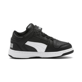 Thumbnail 5 of PUMA Rebound LayUp Lo Sneakers INF, Puma Black-White-High Rise, medium