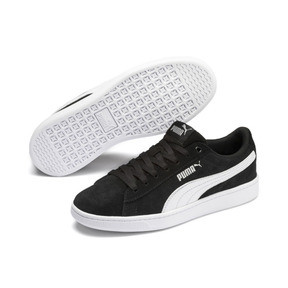 Thumbnail 2 of PUMA Vikky v2 Suede Sneakers JR, Puma Black-Puma White-Silver, medium