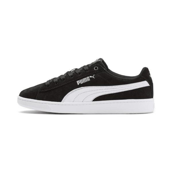 PUMA Vikky v2 Suede Sneakers JR, Puma Black-Puma White-Silver, large